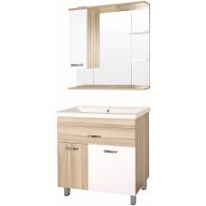Мебель для ванной Style Line Ориноко 80 с бельевой корзиной, белая, ориноко