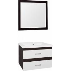 Мебель для ванной Style Line Сакура 80 Люкс Plus, белая, венге