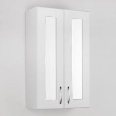 Шкаф Style Line Эко Стандарт 48 с зеркальными вставками, белый