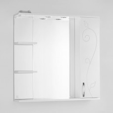 Зеркало-шкаф Style Line Эко Фьюжн Панда 80/С белый