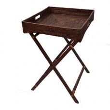 Сервировочный столик на деревянных ножках коричневый 2kkorzina 20-0004 Br