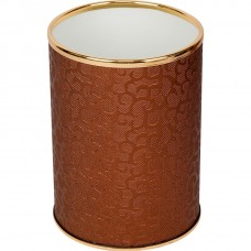 Мусорное ведро Geralis M-FCG-B шоколад, золото, 3 л
