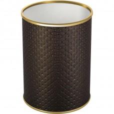 Мусорное ведро Geralis M-PCG-B шоколад, золото, 3 л