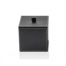 Универсальная коробка 13x13x14.5см, с крышкой, цвет: черная кожа Decor Walther Brownie BMD1 0930760