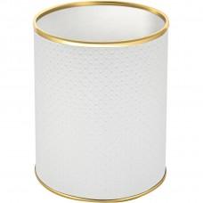 Мусорное ведро Geralis M-PWG-S белое, золото, 7,5 л