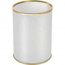 Мусорное ведро Geralis M-FWG-B белое, золото, 3 л