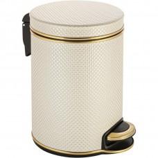 Мусорное ведро Geralis V-RWG-B белое, золото, 5 л