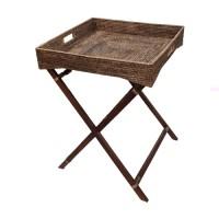 Сервировочный столик на деревянных ножках коричневый 2kkorzina 20-0004 G