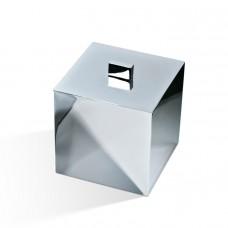 Баночка универсальная 13x13x14.5см, с крышкой, цвет: хром Decor Walther Cube DW 3560 0846500