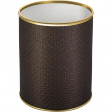 Мусорное ведро Geralis M-PCG-S шоколад, золото, 7,5 л