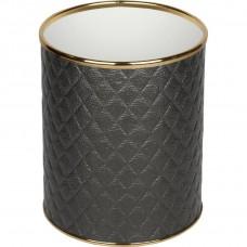 Мусорное ведро Geralis M-CBG-S черное, золото, 7,5 л