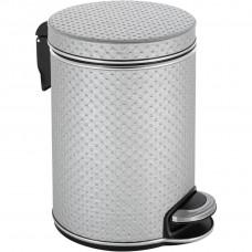 Мусорное ведро Geralis V-PHH-B серебро, хром, 5 л
