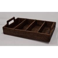 Лоток для столовых приборов коричневый 2kkorzina 20-0011 Br/1