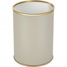 Мусорное ведро Geralis M-RWG-B белое, золото, 3 л
