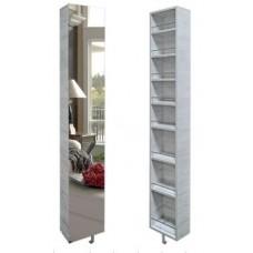 Шкаф поворотный, с 3-мя зеркалами Лупо Беленый дуб