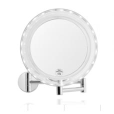 Зеркало с 5-ти кратным увеличением, настенное, на батарейках, с подсветкой - Andrea House BA62077