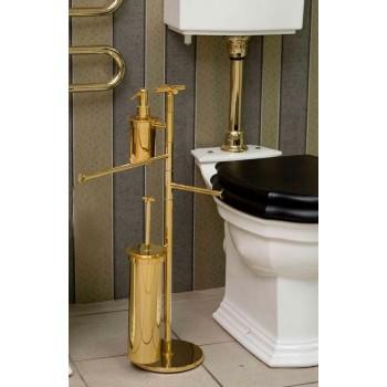 Стойка с ершиком, держателем для туалетной бумаги, полотенцедержателем, c дозатором Open Kristallux F135.014