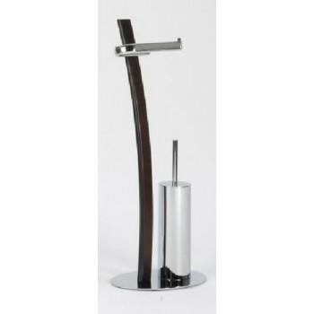Стойка с ершиком и держателем для туалетной бумаги, изогнутая Andrea House BA09511