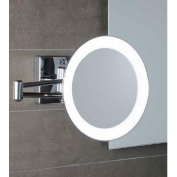 Зеркало настенное с светодиодной подсветкой, с проводом, с 2-х кратным увеличением Koh-i-noor DISCOLOLED 36/2KK2