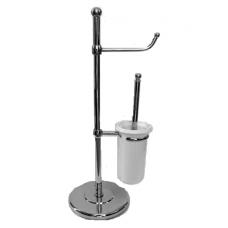 Стойка с ершиком и держателем для туалетной бумаги Pacini&Saccardi 5022 CR