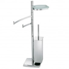 Стойка с ершиком, держателем для туалетной бумаги, полотенцедержателем и мыльницей Open Kristallux TD164.013