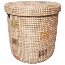 Корзина для белья из ротанговой травы плетеная 2kkorzina CO60152 S/4 №2 бежевая