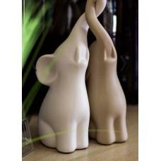 Статуэтка слоники бежевая и белая Garda Decor 10K8105/8106B
