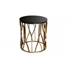 Столик журнальный с черным стеклом (золото) 13RXET3103-GOLD