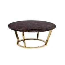 Стол журнальный коричневый (искусственный мрамор) Garda Decor 33FS-СT20С05-PG