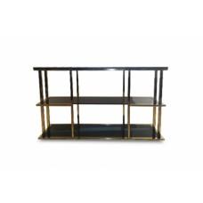 Консоль с черным стеклом (золотая) Garda Decor 46AS-CST4616-GOLD