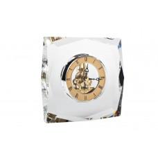 Часы настольные стеклянные золотые C81315