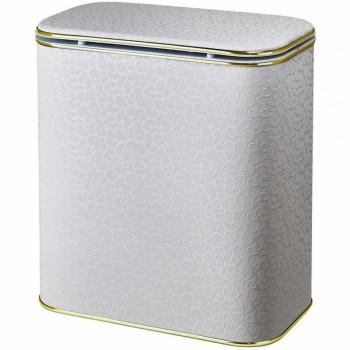 Корзина для белья Cameya Цветы FWG-BG-9 с микролифтом глубокая Бежевая, кант золото