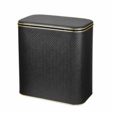 Корзина для белья Cameya Punto PBLG-B-9 с микролифтом большая Черная, кант золото