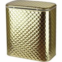 Корзина для белья Cameya Стеганая GAC-B большая Золотая матовая, кант золото