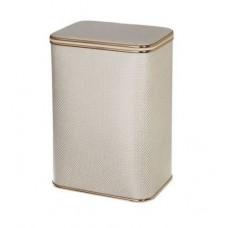 Корзина для белья Cameya KLG-M бежевая малая с золотой окантовкой