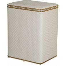 Корзина для белья белая стеганная большая Cameya WGC-B с золотой окантовкой