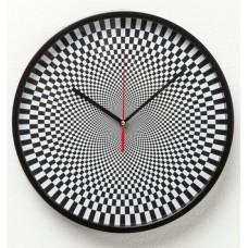 """Часы настенные """"Shakedelic B&W"""" Kare 37437"""