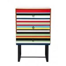 """Комод """"Stripes Colore"""" 3 ящика Kare 78243"""