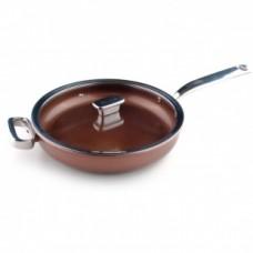 Глубокая сковорода 28 см. c крышкой (стекло) Siena ZANUSSI ZCU51231CF