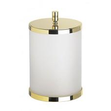Корзина для мусора c крышкой матовое стекло золотая WINDISCH 89104MO