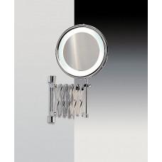 Зеркало подвесное с флуор.подсветкой (белый свет) на держателе-гармошка 2-х кратное WINDISCH 99188CR