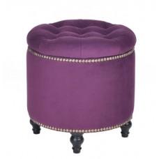 Пуф круглый малый с ящиком Гроссето Менса 32 темно-фиолетовый