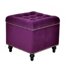 Пуф квадратный малый с ящиком Матера Менса 32 темно-фиолетовый