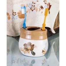 Стакан для зубной пасты и зубной щётки PRIMANOVA D-15872 CREMA
