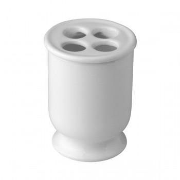 Держатель для щеток, керамический, белый Nicolazzi 6001
