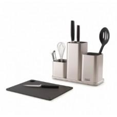 Органайзер для кухонной утвари настольный CounterStore серебристый Joseph Joseph 85122