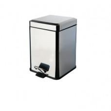 Ведро для мусора квадратное с педалью Colombo Black&White B9210 CR (3л)