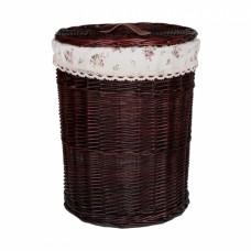Корзина бельевая из ивовой лозы круглая №1 KT03B S/10 коричневая большая