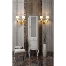 Шкаф для ванной напольный Opadiris Пенал Лаура Белый