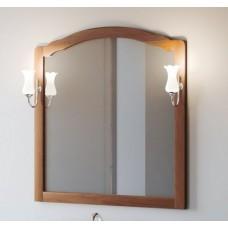Зеркало со светильниками Smile Империал 80 в раме орех